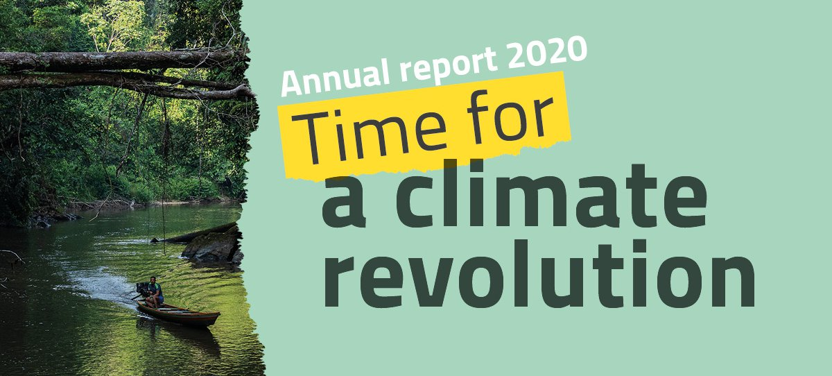 Annual report 2021 image: Time for a Climate Revolution