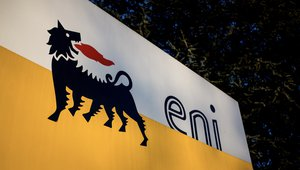 Eni sign outside Milan
