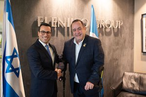 Guatemalan President-elect Giammattei visits Tenlot's offices in Tel Aviv, December 2019