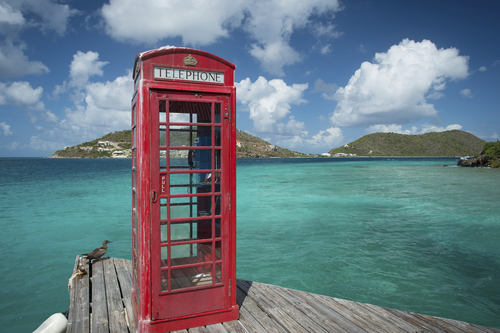 British Virgin Islands red phone box