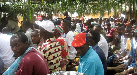 Liberian community forestry meeting