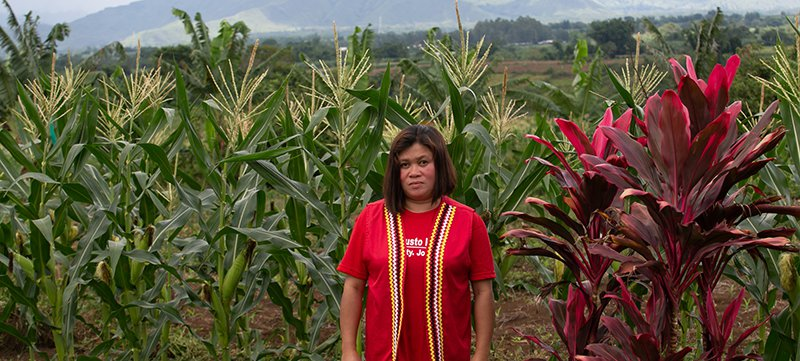 Cheryl Cagaanan's home was destroyed during the demolition of the village of San Jose, Impasugong Town in Bukidnon Province, Mindanao, The Philippines.  Credit: Global Witness / Jeoffrey Maitem