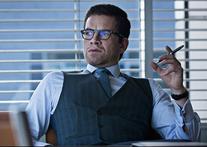 Nikolaj Lie Kaas as Alexander Sødergren in Follow the Money