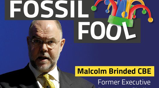 Malcolm Brinded Fossil Fool graphic