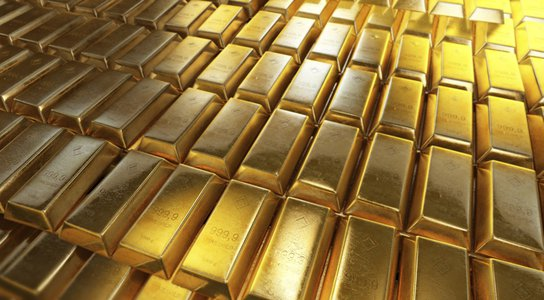 Gold bars stock photo Getty