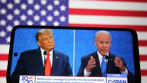 Trump and Biden presidential debate October 2020