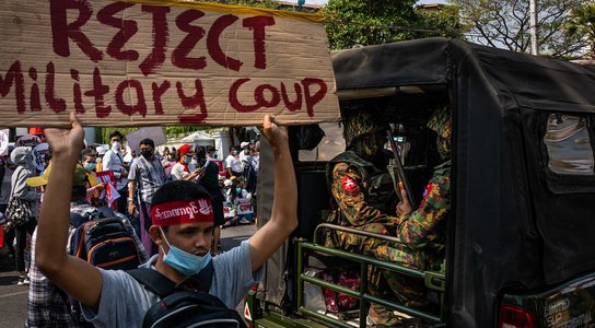 Myanmar protest February 2021