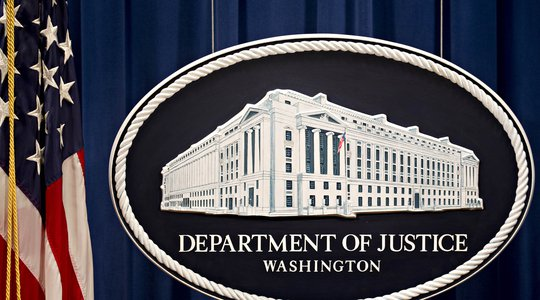 US department of justice sign