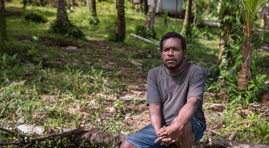 Paul Pavol in his village Mu in the Pomio District PNG