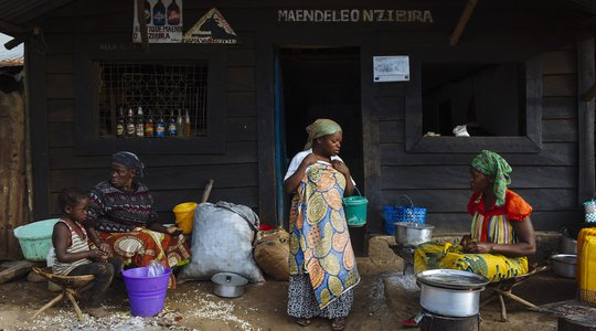 Women catering for mining industry