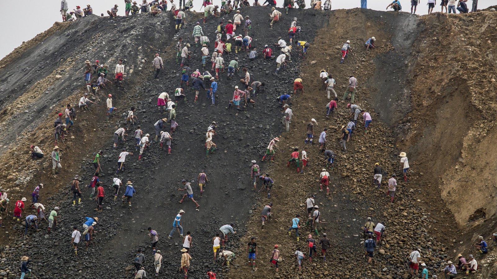 Myanmar small-scale miners search for jade
