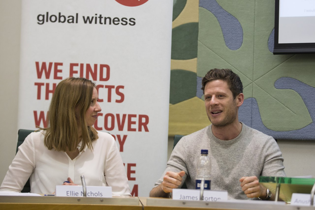 McMafia parliamentary event: James Norton and Ellie Nichol