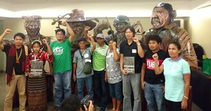Civil society partners and statues of defenders - Philippines