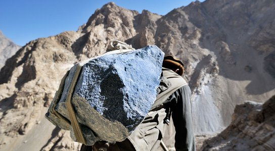 Lapis mining in Afghanistan