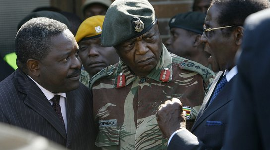 Mugabe and generals